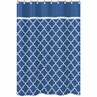 Blue and White Trellis Kids Bathroom Fabric Bath Shower Curtain