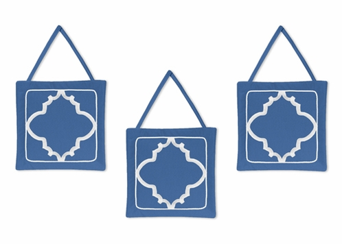 Blue and White Trellis Wall Hanging Accessories by Sweet Jojo Designs - Click to enlarge