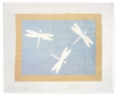 Blue Dragonfly Dreams Accent Floor Rug