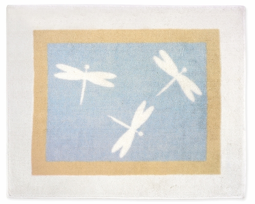 Blue Dragonfly Dreams Accent Floor Rug - Click to enlarge