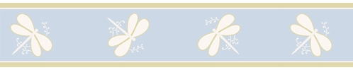 Blue Dragonfly Dreams Baby and Kids Wall Border by Sweet Jojo Designs - Click to enlarge