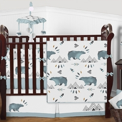 Baby boy bedding sets for Mountain crib bedding