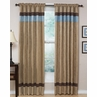 Blue - Jacaranda Collection Microsuede Window Treatments - Set of 2