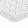 Blue Red and White Nautical Boat Baby or Toddler Fitted Mini Portable Crib Sheet by Sweet Jojo Designs