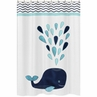 Blue Whale Childrens Bathroom Fabric Bath Shower Curtain by Sweet Jojo Designs