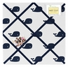 Blue Whale Fabric Memory/Memo Photo Bulletin Board by Sweet Jojo Designs