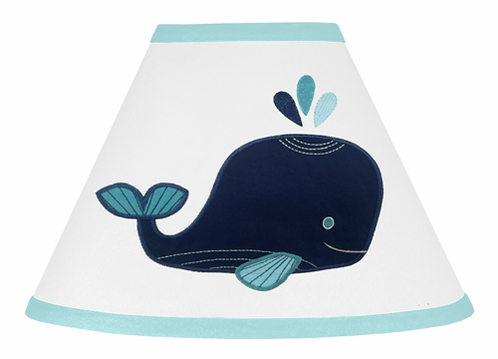 Blue Whale Lamp Shade by Sweet Jojo Designs - Click to enlarge