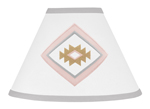 Blush Pink and Grey Boho Lamp Shade for Aztec Collection by Sweet Jojo Designs