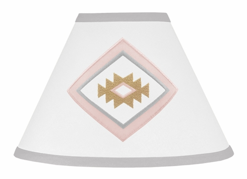 Blush Pink and Grey Boho Lamp Shade for Aztec Collection by Sweet Jojo Designs - Click to enlarge