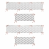 Blush Pink and Grey Geometric Tribal Baby Crib Bumper Pad for Aztec Collection by Sweet Jojo Designs