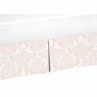Blush Pink and White Crib Bed Skirt for Amelia Baby Bedding Sets by Sweet Jojo Designs