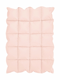 Blush Pink Baby Crib Down Alternative Comforter / Blanket