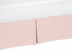 Blush Pink Baby Girl Pleated Crib Bed Skirt Dust Ruffle for Bedding Collections by Sweet Jojo Designs