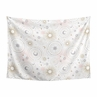 Blush Pink, Gold and Grey Star and Moon Wall Hanging Tapestry Art Decor for Celestial Collection by Sweet Jojo Designs - 60in. x 80in.
