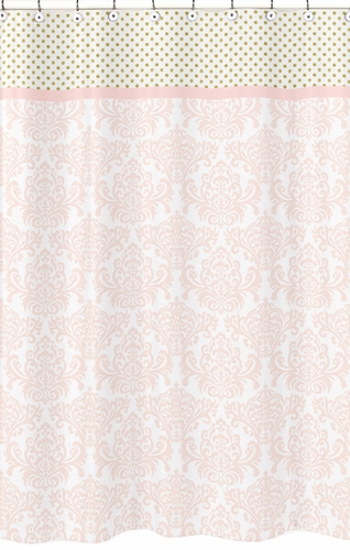 pink and gold shower curtain. Blush Pink  Gold and White Amelia Kids Bathroom Fabric Bath Shower Curtain Click to