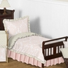 Blush Pink, Gold and White Amelia Toddler Bedding - 5pc Girls Set by Sweet Jojo Designs