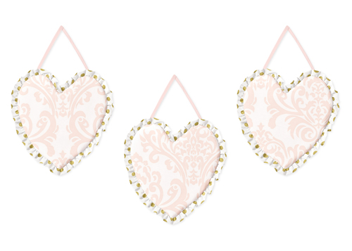 Blush Pink Gold And White Amelia Wall Hanging Accessories By Sweet Jojo Designs Only 24 99