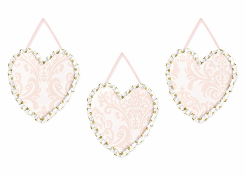 Blush Pink, Gold and White Amelia Wall Hanging Accessories by Sweet Jojo Designs - Click to enlarge