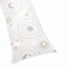 Blush Pink, Gold, Grey and White Star and Moon Body Pillow Case Cover for Celestial Collection by Sweet Jojo Designs (Pillow Not Included)