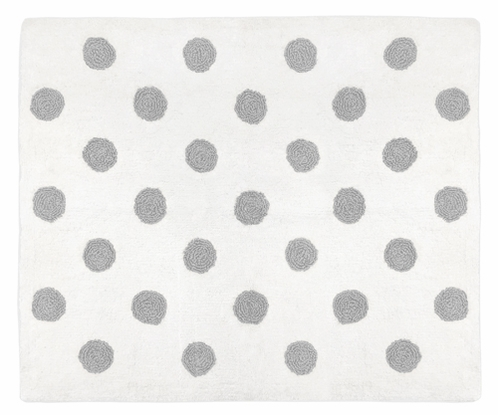 Blush Pink, Grey and White Accent Floor Rug or Bath Mat for Watercolor Floral Collection by Sweet Jojo Designs - Click to enlarge