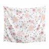 Blush Pink, Grey and White Shabby Chic Wall Hanging Tapestry Art Decor for Watercolor Floral Collection by Sweet Jojo Designs - 50in. x 60in. - Rose Flower