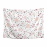 Blush Pink, Grey and White Shabby Chic Wall Hanging Tapestry Art Decor for Watercolor Floral Collection by Sweet Jojo Designs - Rose Flower - 60in. x 80in.