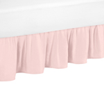 Blush Pink Toddler Bed Skirt for Amelia Kids Childrens Bedding Sets