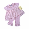 Boutique 2pc Pink Minky Dot Chenille Outfit by Sweet Jojo Designs
