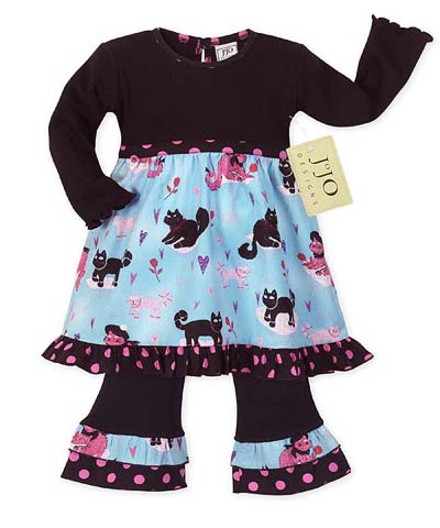 Boutique Kitty Cat Baby Girls Infant 2pc Set or Dress by Sweet Jojo Designs - Click to enlarge