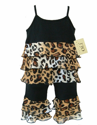 Boutique Rhumba Leopard Print 2pc Outfit by Sweet Jojo Designs - Click to enlarge