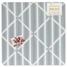 Brown and Blue Argyle Fabric Memory/Memo Photo Bulletin Board