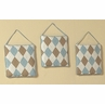 Brown and Blue Argyle Wall Hanging Accessories by Sweet Jojo Designs