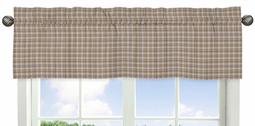 Brown Plaid Window Valance for All Star Sports Collection by Sweet Jojo Designs - Click to enlarge