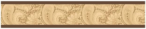 Camel and Chocolate Paisley Baby and Kids Wall Border by Sweet Jojo Designs - Click to enlarge