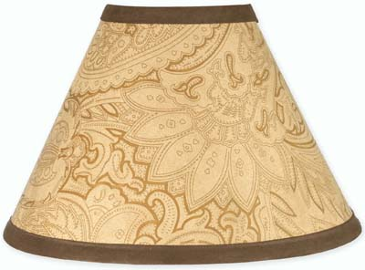 Camel and Chocolate Paisley Lamp Shade - Click to enlarge