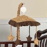 Camel and Chocolate Paisley Musical Crib Mobile