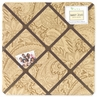 Camel Paisley Fabric Memory/Memo Photo Bulletin Board
