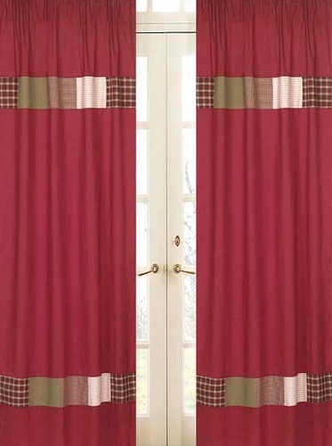 Casey's Cabin Window Treatment Panels - Set of 2 - Click to enlarge