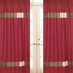 Casey's Cabin Window Treatment Panels - Set of 2