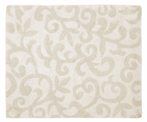 Champagne and Ivory Victoria Accent Floor Rug by Sweet Jojo Designs - Click to enlarge