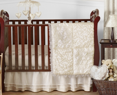 Champagne And Ivory Victoria Baby Bedding 11pc Crib Set By Sweet Jojo Designs Click