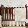Champagne and Ivory Victoria Baby Bedding - 4pc Crib Set by Sweet Jojo Designs