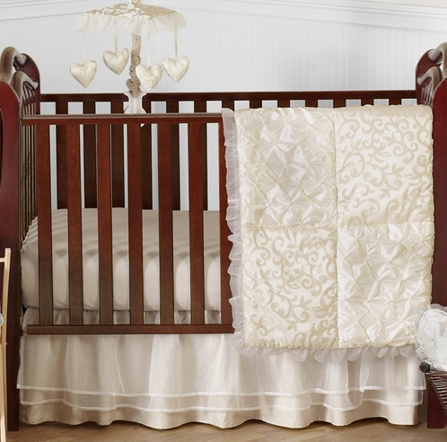 Champagne And Ivory Victoria Baby Bedding   4pc Crib Set By Sweet Jojo  Designs   Click