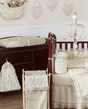 Champagne And Ivory Victoria Baby Bedding 9pc Crib Set
