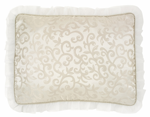 Champagne and Ivory Victoria Pillow Sham by Sweet Jojo Designs - Click to enlarge