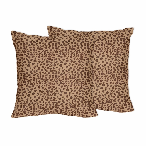 Cheetah Animal Print Decorative Accent Throw Pillows by Sweet Jojo Designs - Set of 2 only $46.99
