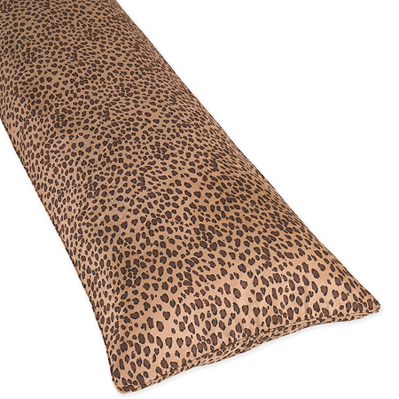 cheetah animal print full length double zippered body pillow cover only