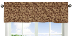 Animal Print Window Valance for Pink and Brown Cheetah Girl Collection