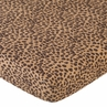 Cheetah Girl Fitted Crib Sheet for Baby and toddler Bedding Sets by Sweet Jojo Designs - Cheetah Print