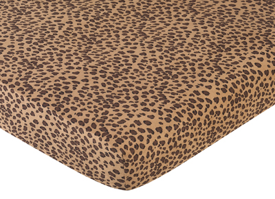 Cheetah Ed Crib Sheet For Baby And Toddler Bedding Sets By Sweet Jojo Designs Print Only 19 99